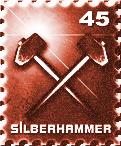 Briefmarke rot